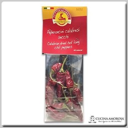TuttoCalabria TuttoCalabria Dried Hot Long Chili Peppers with Stems 0.7 Oz (20g)