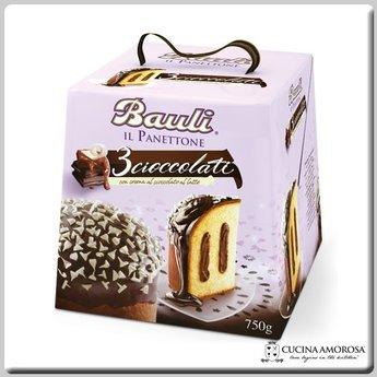 Bauli Bauli Panettone 3 Cioccolati (750g) 28 Oz
