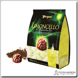 Vergani Crema Limoncello with Dark Chocolate Praline Bag (250g) 7 Oz