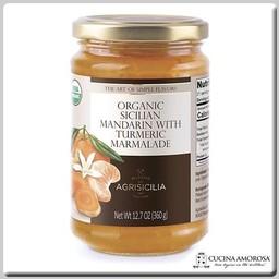 Agrisicilia Agrisicilia Sicilian Organic Mandarin Turmeric Marmelate 12.7 Oz (360g)