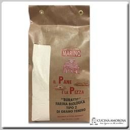 """Mulino Marino Mulino Marino Buratto Artisan Organic Soft Wheat Flour Type """"2"""" Stone Grind 35.27 Oz (1kg)"""