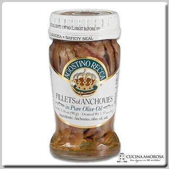 Agostino Recca Agostino Recca Fillets of Anchovies in Olive Oil 3.35 Oz (90g) Jar