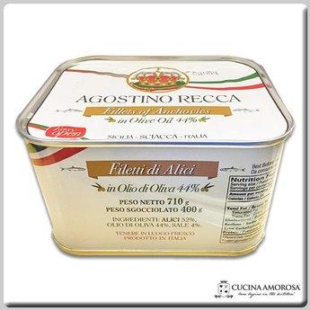 Agostino Recca Agostino Recca Fillets of Anchovies in Olive Oil 25 Oz (710g) Tin