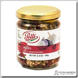 Polli Polli Garlic and Spicy Peppers 6.5 Oz Jar