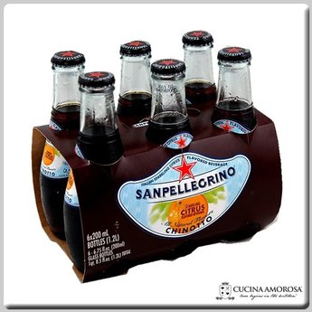 Sanpellegrino Sanpellegrino Chinotto 200 ml Glass Bottle (Pack of 6)
