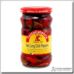 TuttoCalabria TuttoCalabria Hot Long Chili Peppers in Oli 10.2 oz Jar