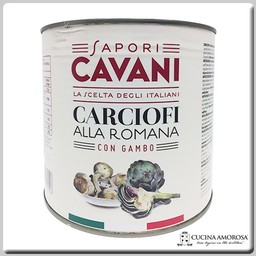 Cavani Cavani Artichokes Roman Style with Stem Net Weight 88.19 Oz (2500g)