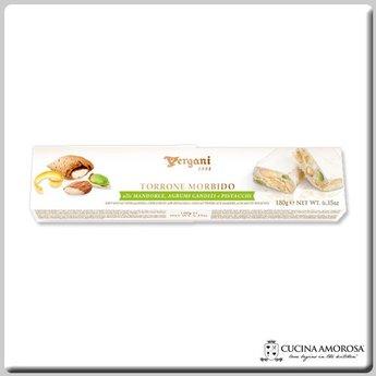Vergani Soft Nougat Almond Citrus Pistachio (180g) 6.35 Oz