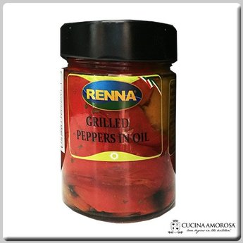 Renna Renna Grilled Bell Peppers in Oil 10.5 Oz Jar