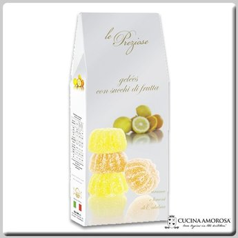Silagum Le Preziose Gelèes with Mix Fruits: Orange & Lemon Flavors 7 Oz (200g) Gift Box