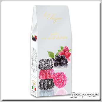 Silagum Le Preziose Gelèes with Mix Fruits: Blackberry & Raspberry Flavors 7 Oz (200g) Gift Box