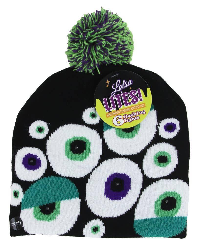 DM Merchandising Light Up Knit Hat Halloween/ Assorted
