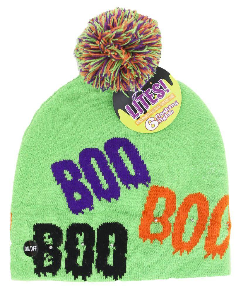 DM Merchandising Light Up Knit Hat Halloween/ Assorted