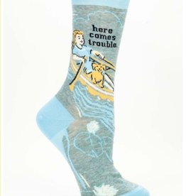 blue Q Blue Q Socks/ Here Comes Trouble