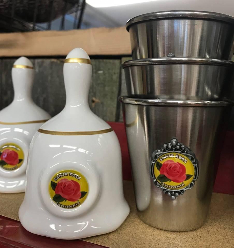 Dutch American Import Co. Ceramic Bell/ Santa Rosa Rose