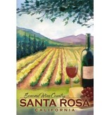 Lantern Press Wood Gift Tag/ Sonoma Wine Country