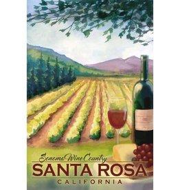 Lantern Press Wood Gift Tag/ Sonoma Wine Country