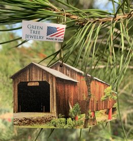 Green Tree Jewelry Honey Run Covered Bridge Ornament