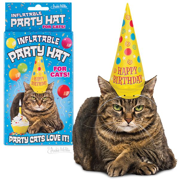 Accoutrements Party Hat/ Inflatable For Cats