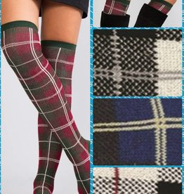 Noelle Socks/ Tall Perfectly Plaid Asst.