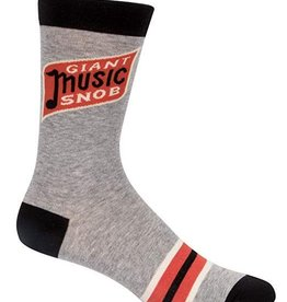 Blue Q Blue Q Men's Socks/ Giant Music Snob