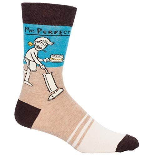 Funny Here Comes the Trouble Gift Cotton Blue Q Women/'s Crew Socks Novelty