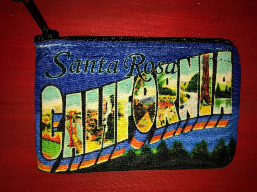Jim Spinx Zipper Coin Purse / Santa Rosa