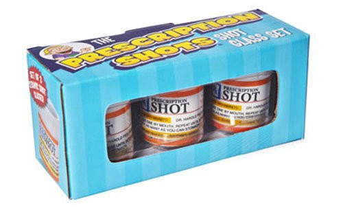 Big Mouth Inc. Shot Glass/ Prescription Set of 3