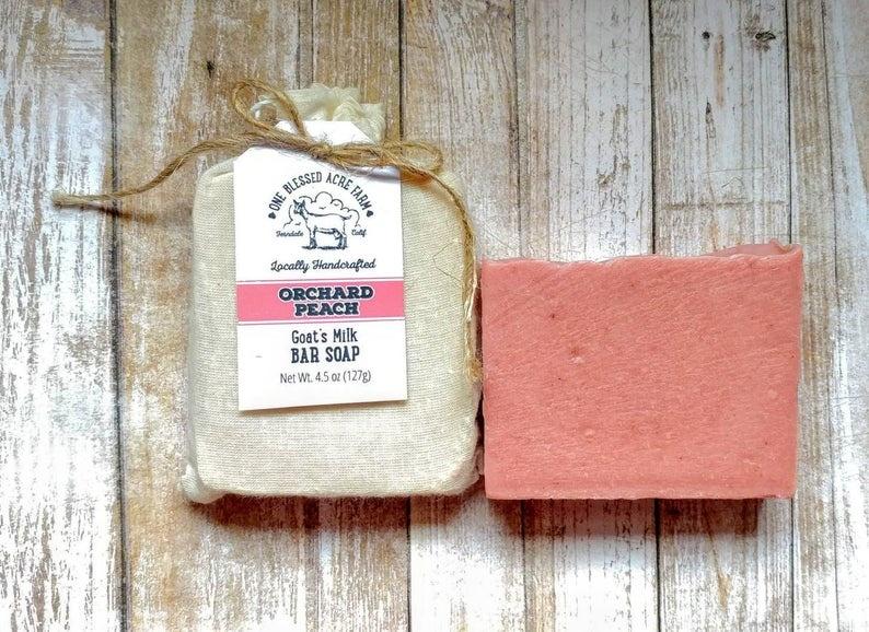 CJ Idea Factory/ One Blessed Acre Farm Bar Soap / Orchard Peach