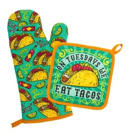 Stephen Joseph/Karma/Wit Oven Mitt & Pot Holder/ Tacos
