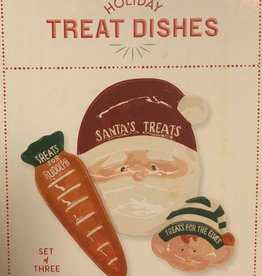 Two's Company Treat Plates/ Santa Set of Three