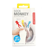 Kikkerland Sock Clips/ Set Of 12 Sock Monkey