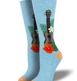 Socksmith Socksmith Uni/ Outlands Ukulele in Paradise Light Blue S/MD