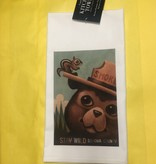 Lantern Press Kitchen Towel / Smokey the Bear and Squirrel