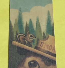 Lantern Press Wooden Bookmark / Smokey the Bear and Squirrel
