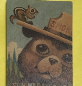 Lantern Press Wooden Postcard / Smokey Bear and Squirrel