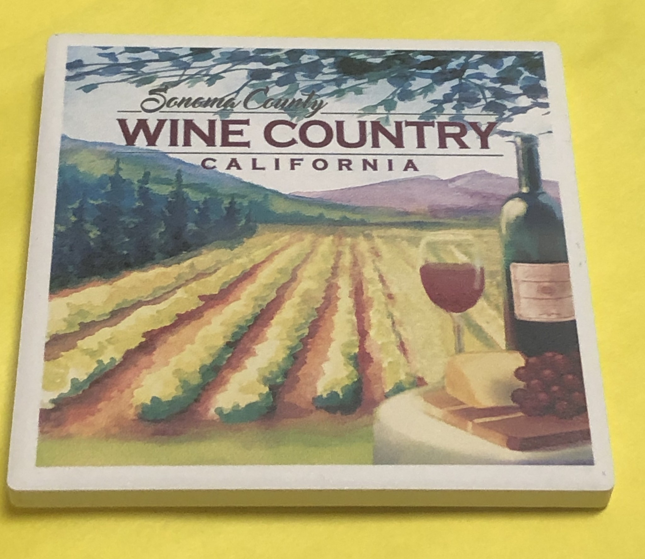 Lantern Press Coaster/ Sonoma County Wine Country