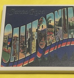 Lantern Press Coaster/ Greetings from Santa Rosa California
