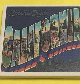 Lantern Press Coaster/ Greetings from Santa Rosa California