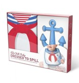 Fred and Friends/ Lifetime Brands Bib and Teether Set/ Sailor Anchor
