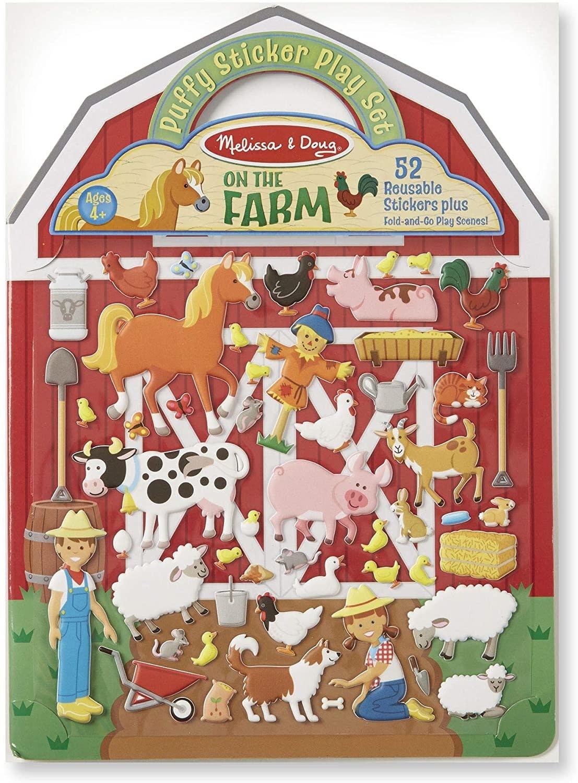 Melissa & Doug Puffy Sticker Play Set/ Farm