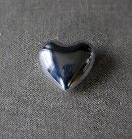 Tesoros Trading Co. Small Nickel Chime Heart