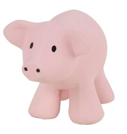 Tikiri Toys Natural Rubber Rattle / Pig