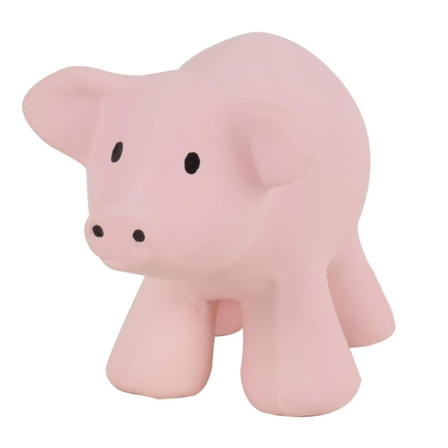 Tikiri Toys Natural Rubber Rattle / Pig