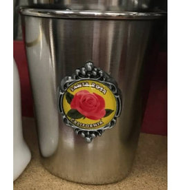 Dutch American Import Co. Stainless Shot Glass/ Santa Rosa Rose