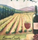 Lantern Press Wooden Postcard / Sonoma County Wine Country