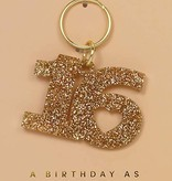 Lucky Feather Keychain / Glitter Sweet 16