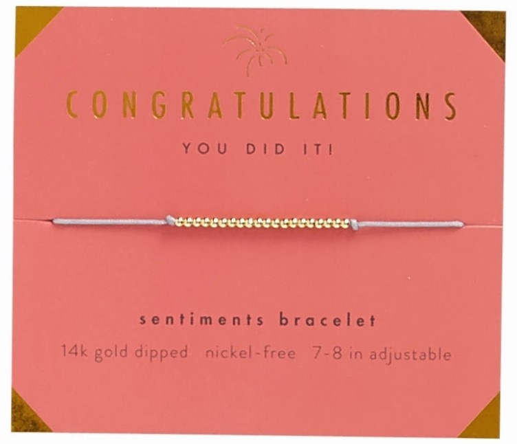 Lucky Feather Bracelet/ Congratulations