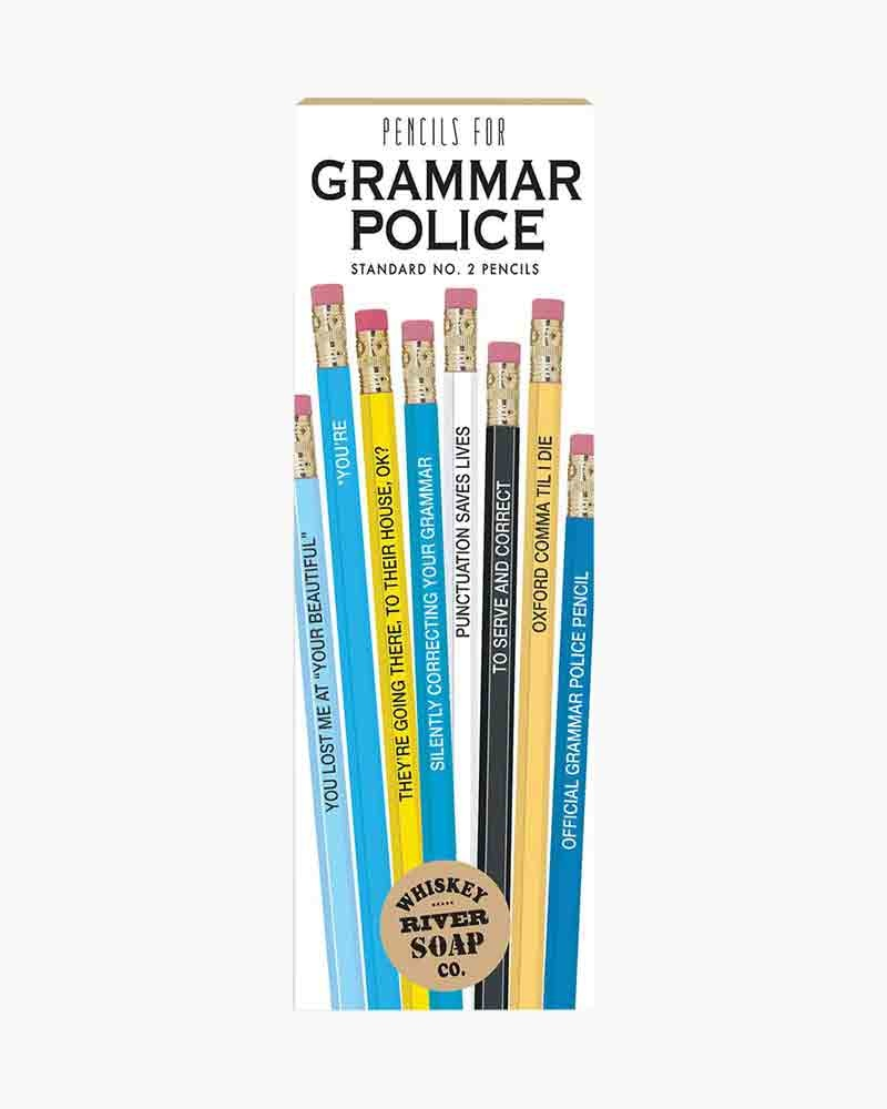 Whiskey River Soap Co. Pencil Set/ Grammar Police
