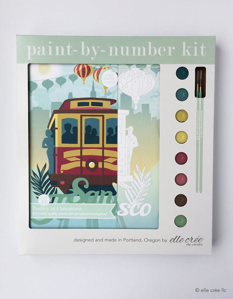 Elle Cree Paint by Number / SF Cable Car